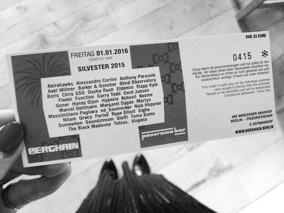 Berghain New Years Ticket 2016