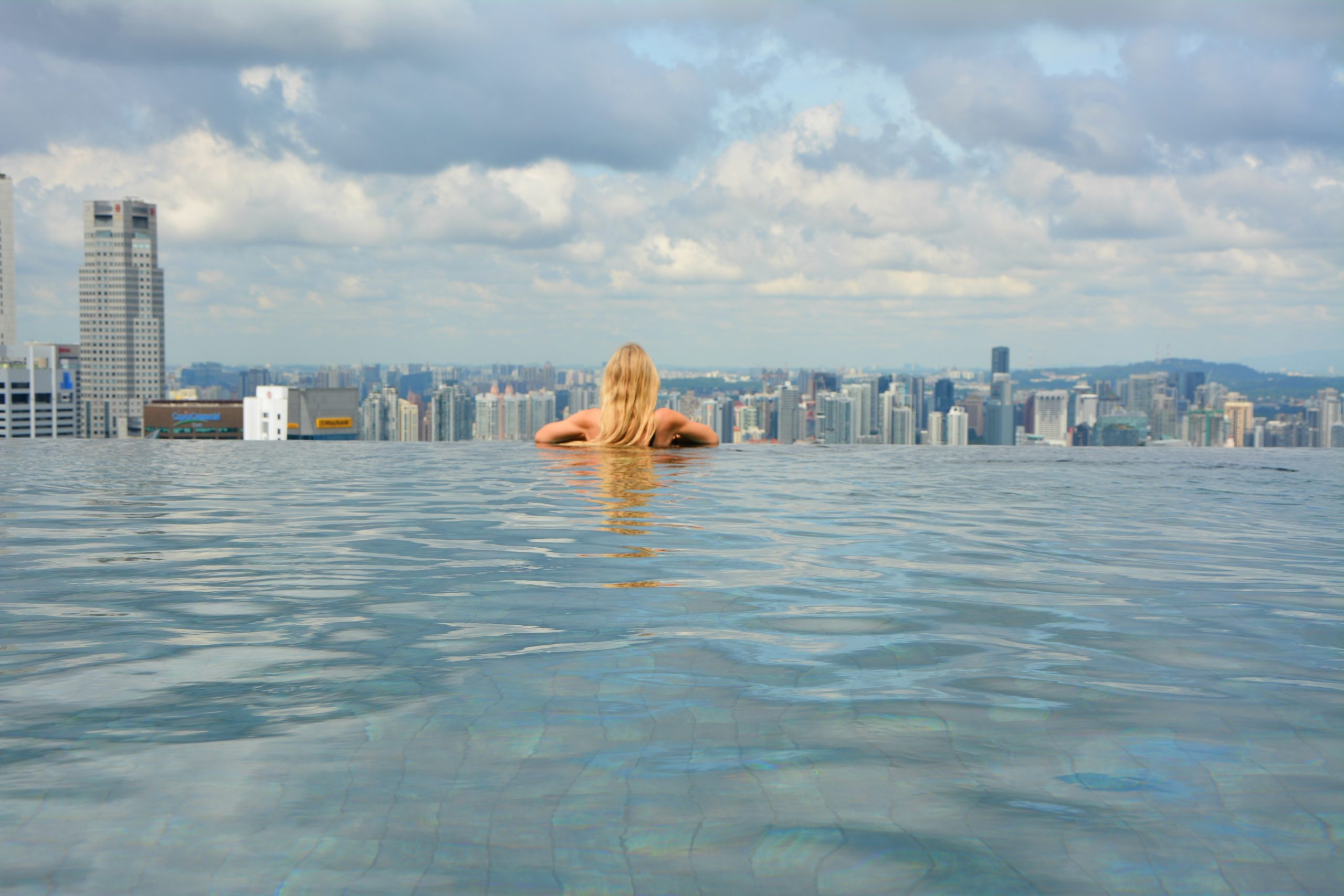 Marina Bay Sands Infinity Pool Empty