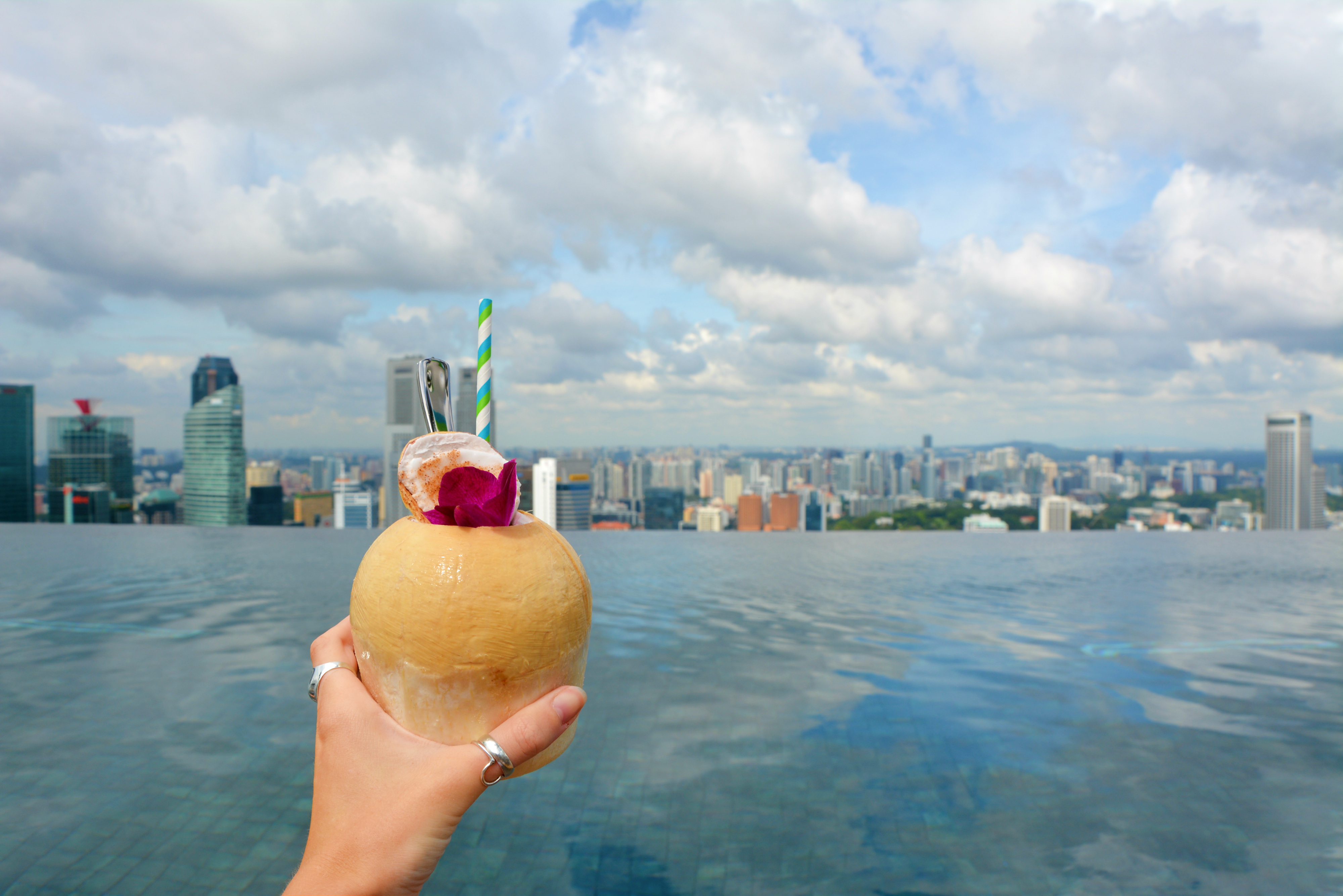 Marina Bay Sands Coconut Cocktail
