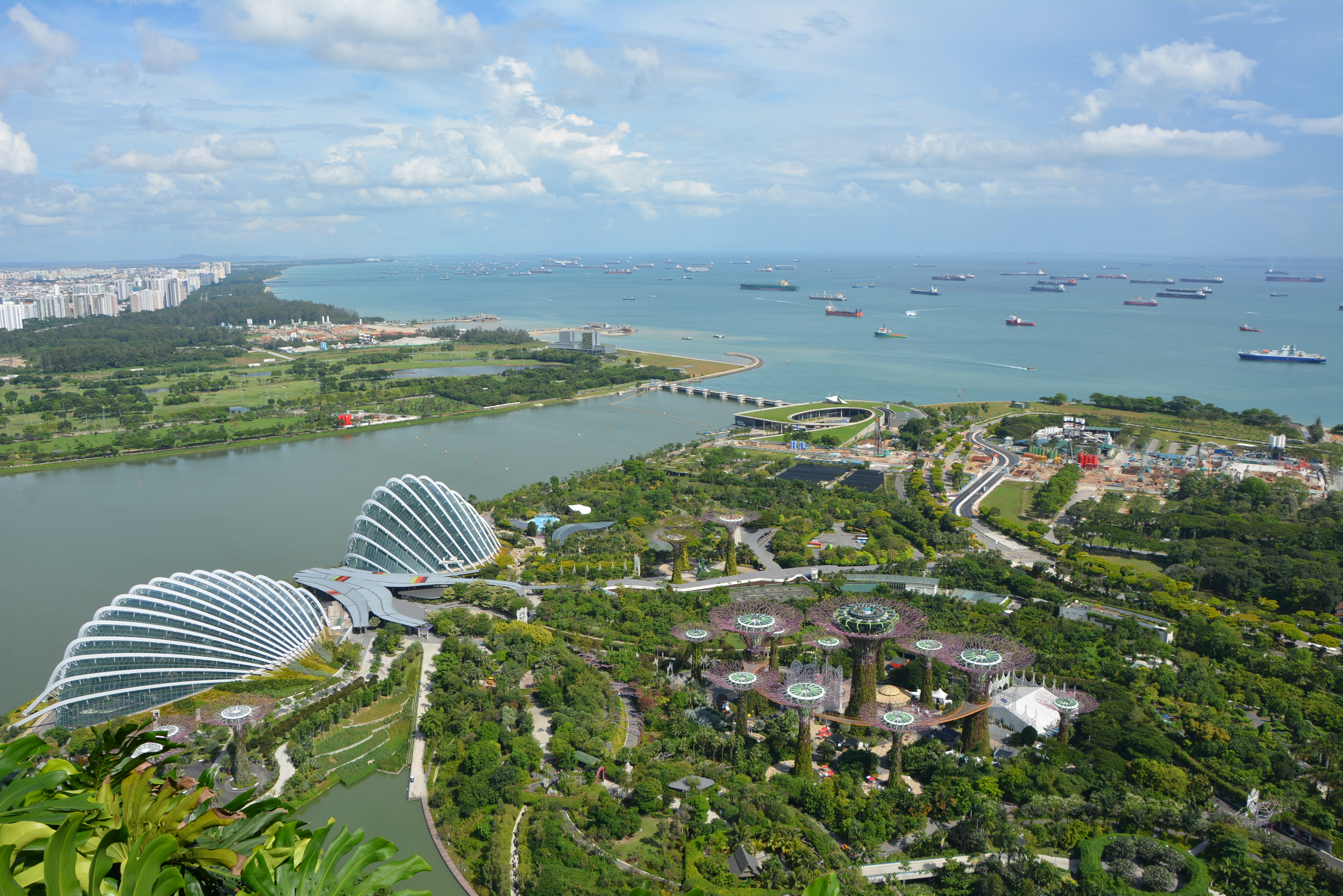Marina Bay Sands gardens by the bay view