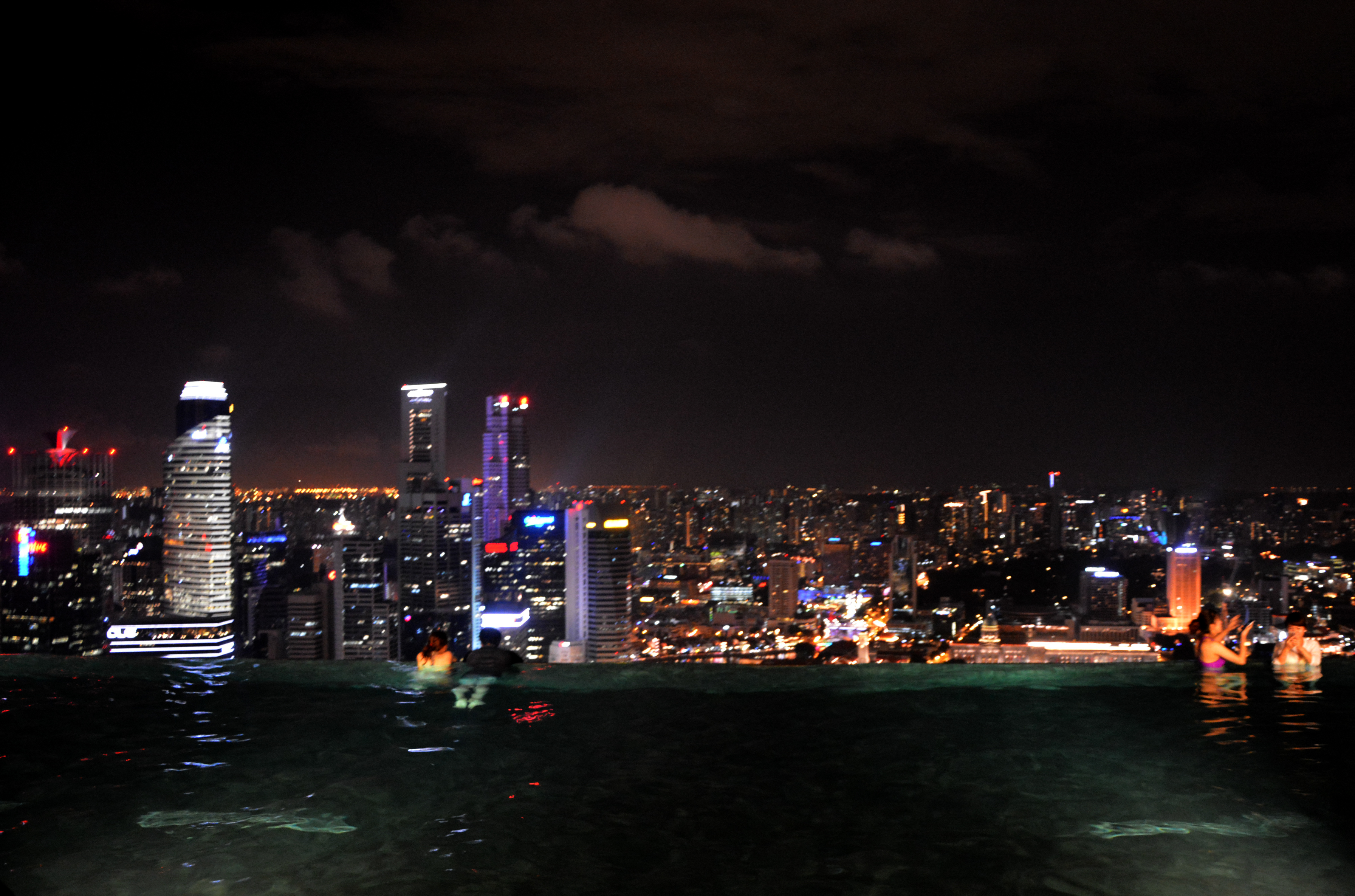 Marina Bay Sands Infinity Pool Night time