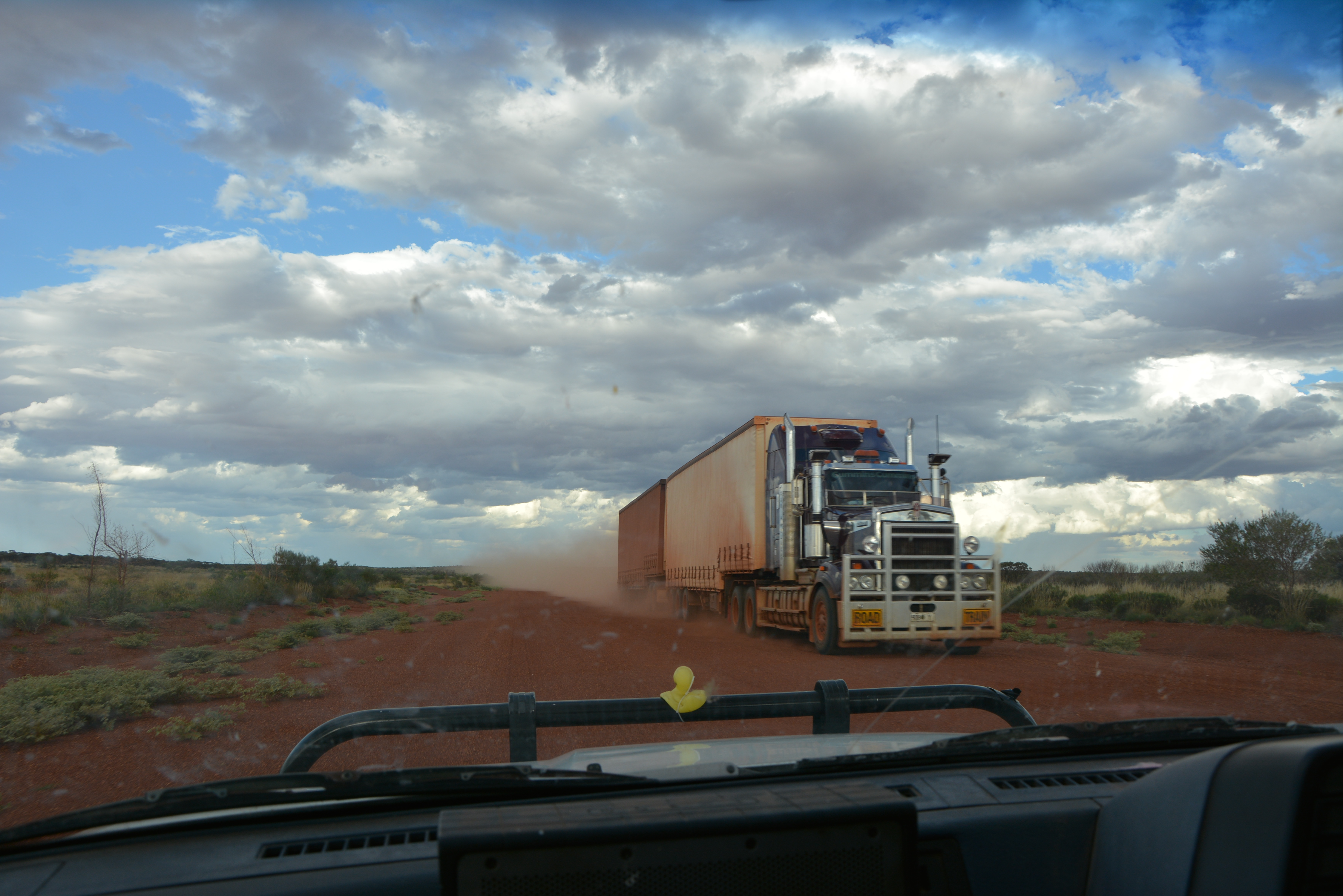 great central road burnt road train