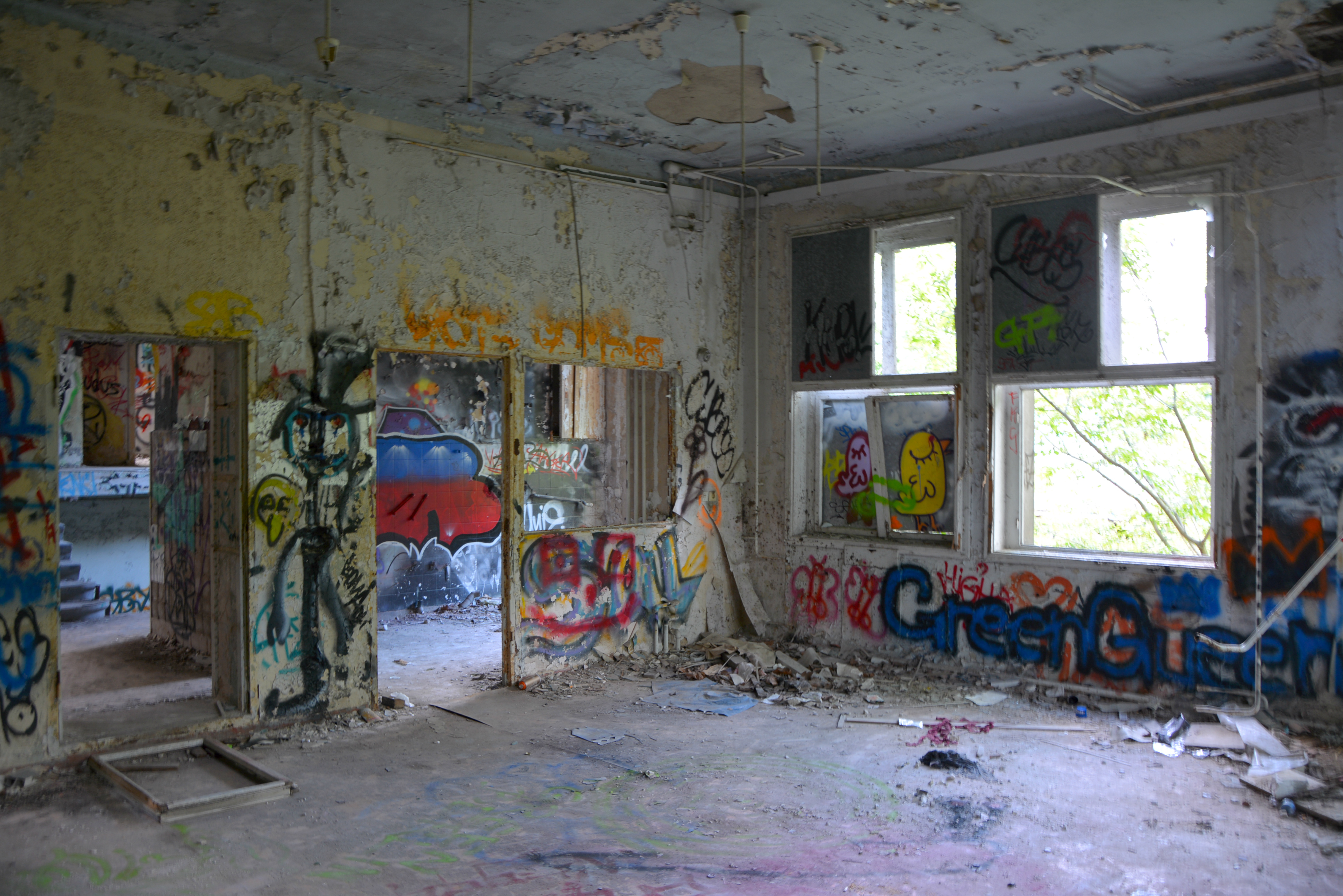 Abandoned Places in Berlin Abandoned Childrens Hospital Graffiti