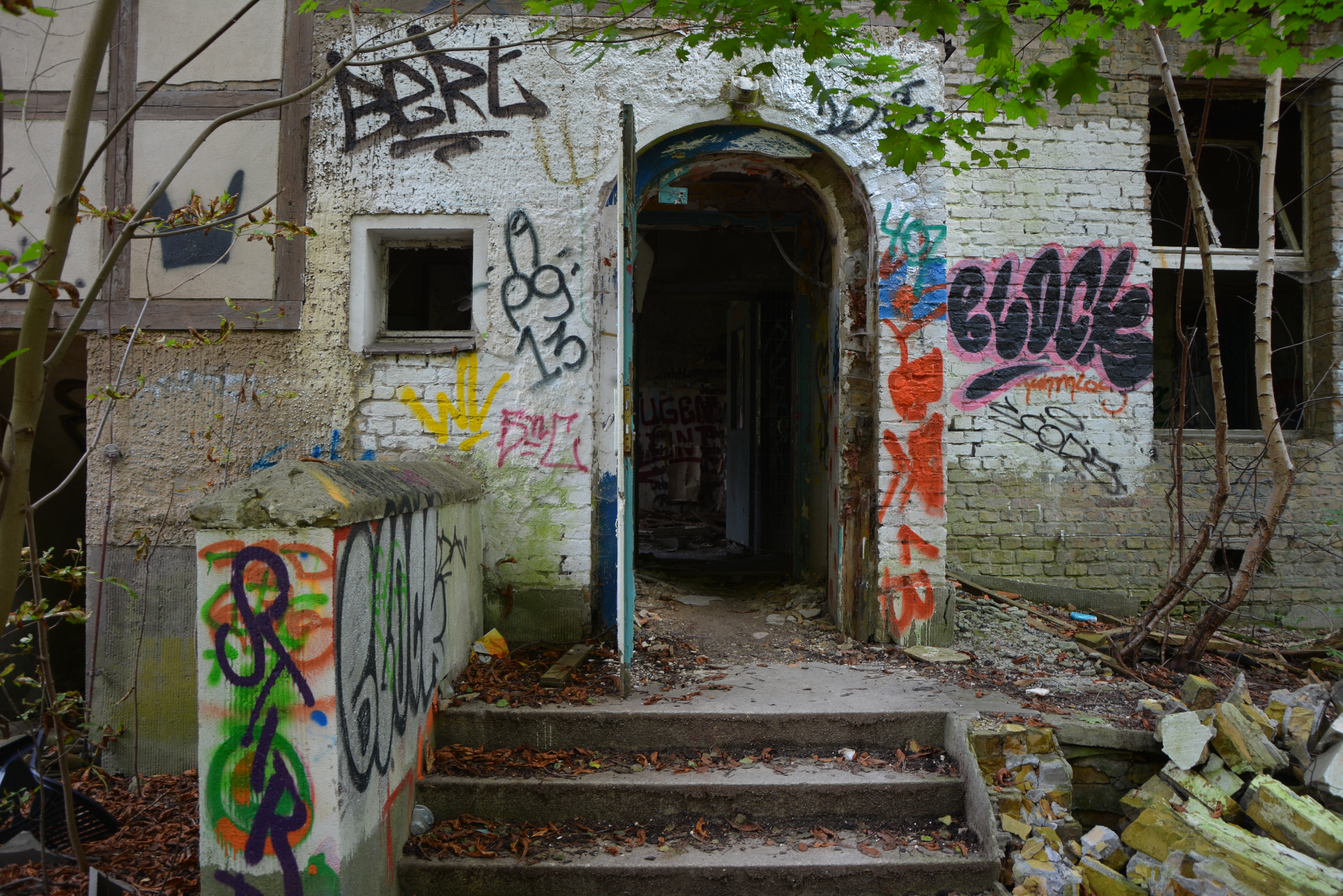 Abandoned Places in Berlin Abandoned Childrens Hospital Doorway