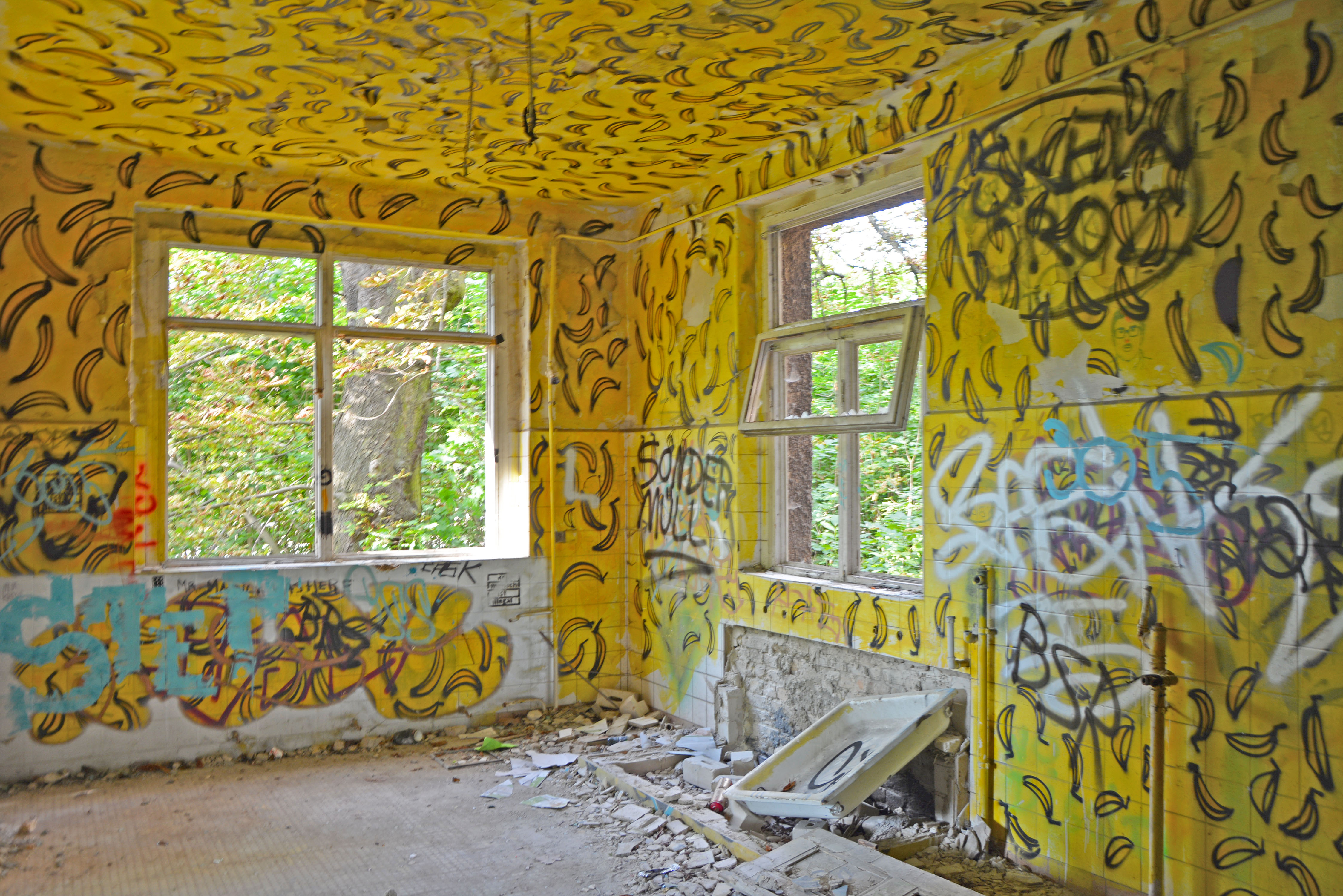 Abandoned Places in Berlin Abandoned Childrens Hospital Banana Room