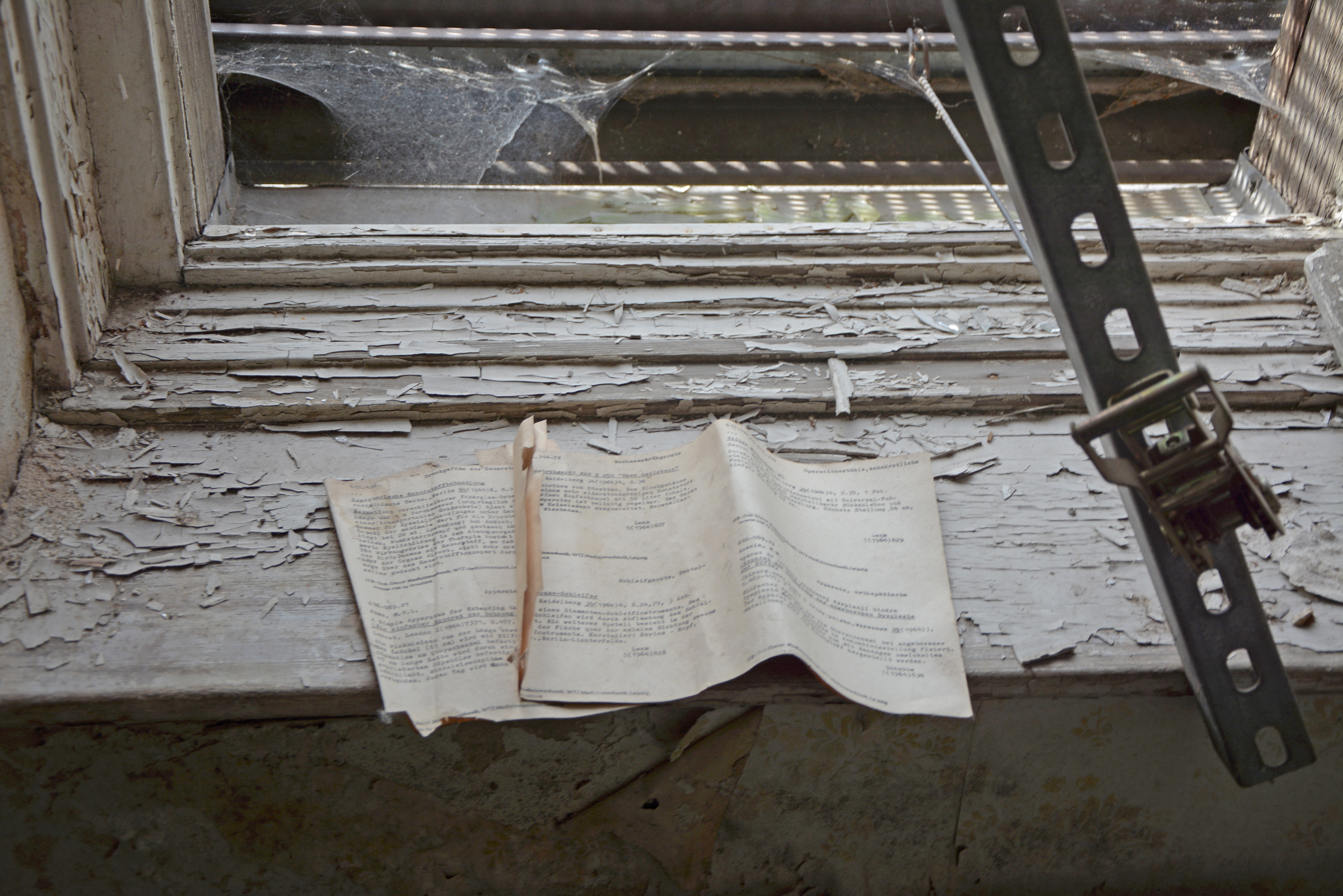 Abandoned Places in Berlin Waldhaus Buch Abandoned Sanatorium Paperwork