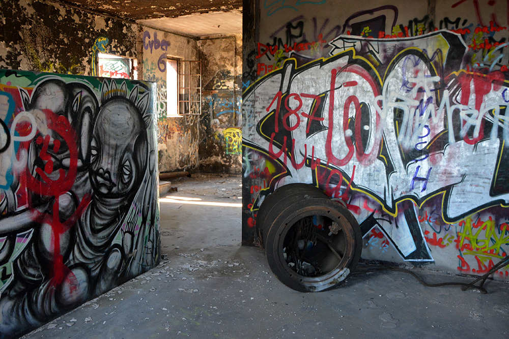 Inside the abandoned brewery