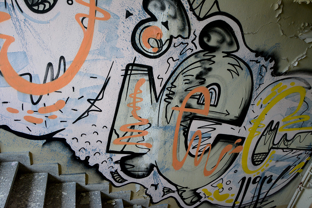 Abandoned Office Complex Wiessensee Grafitti stairs
