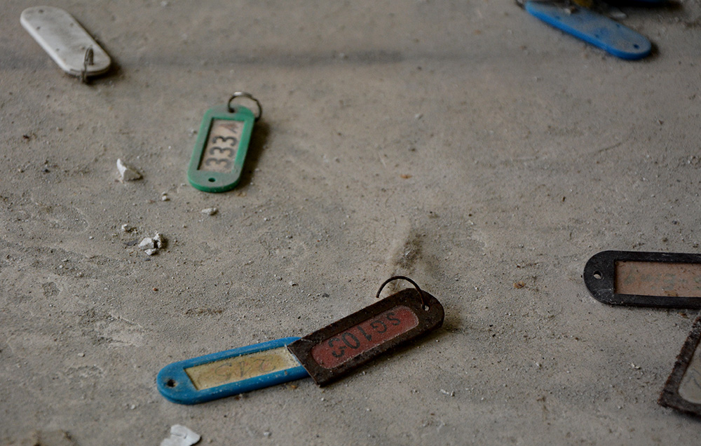 Name tags at the abandoned insurance company berlin