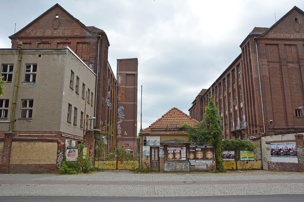abandoned cable factory Berlin outside entrance