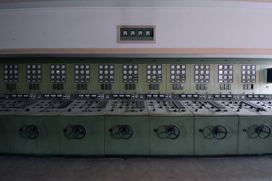 control room vockerode abandoned power plant