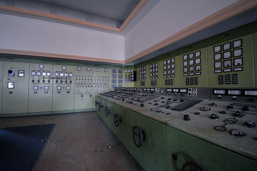 control room abandoned power plant