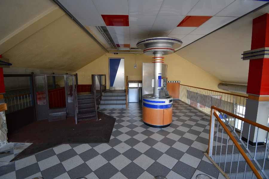 upstairs in the abandoned burger king