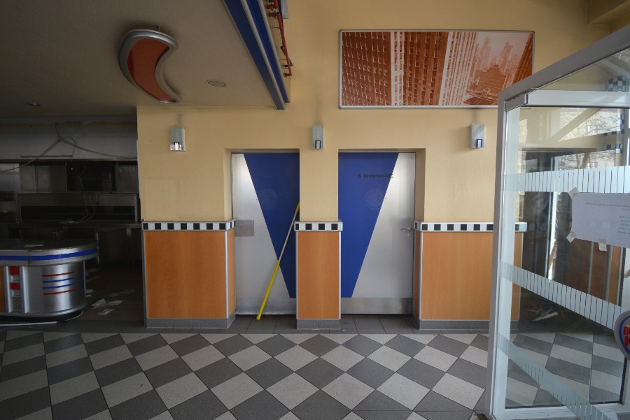 toilets at the abandoned fast food restaurant
